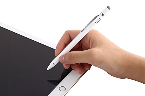 Evach 2 in 1 Electronic Stylus Digital Pen with 1.5mm Ultra Fine Tip for iPad iPhone Samsung Tablets, work on Capacitive touchscreen,Good at Drawing and Writing, White by Evach (Image #1)