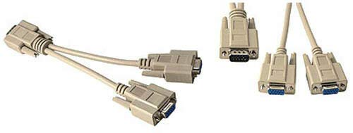 VGA SVGA Monitor Splitter Adapter PC Y-Cable Male to Dual Female