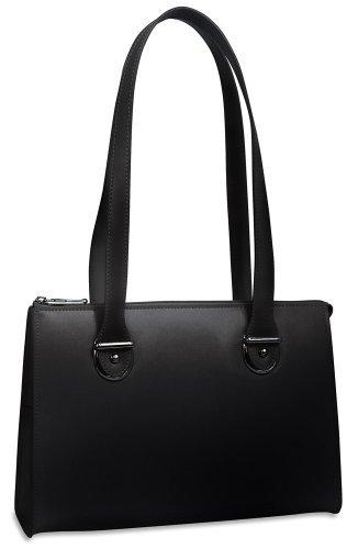 Jack Georges Milano Italian Leather Handbag,Black,One (Jack Georges Italian Leather Handbag)