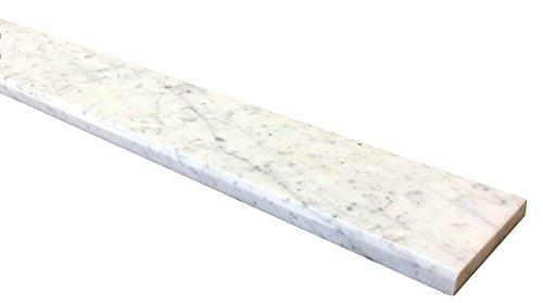 Vogue Tile White Carrara Marble Threshold (Marble Saddle) - Polished - (4'' x 36'') by Vogue Tile (Image #1)