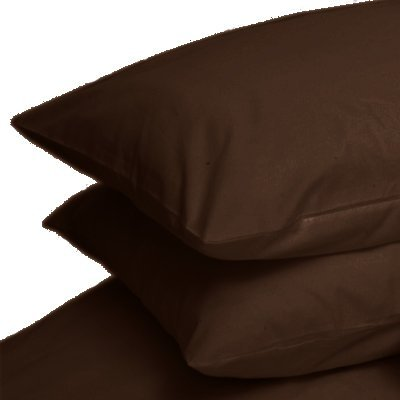 CHOCOLATE BROWN BOLSTER PILLOW CASE 20