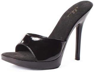 Ellie Shoes Women's 5 Inch Heel Clear Mule (Black;11)