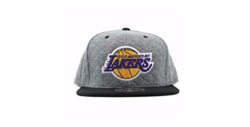 Mitchell & Ness Los Angeles Lakers Quilted RD Grey 2-Tone HIGH Crown Fitted Cap 8