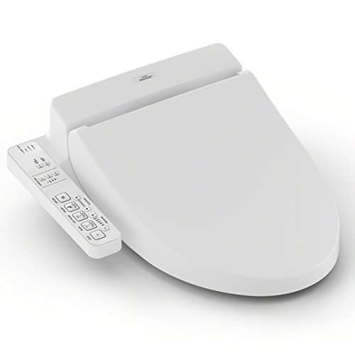 TOTO Washlet C100 Elongated Bidet Toilet Seat with PreMist, Cotton White - - Seat Toto