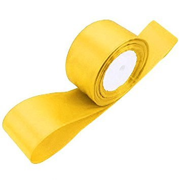 (TOOGOO(R) 1 roll (25 yards/roll) 2'' (50mm) single face Satin Ribbon Webbing Decoration Gift Christmas Ribbons(yellow))
