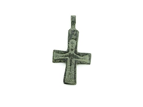 9999 No Mint Mark Byzantine Empire, 8th - 10th c. AD. Christian Byzantine Bronze Cross with Jesus. Wearable 13.75 size Seller Good (Byzantine Bronze Coins)