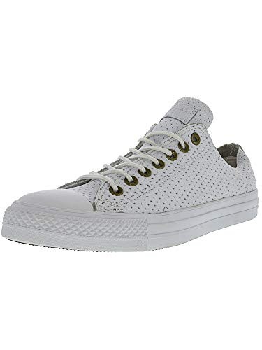 Converse Unisex Chuck Taylor All Star Perforated Leather White/Biscuit/White Sneaker (7 D(M) US)