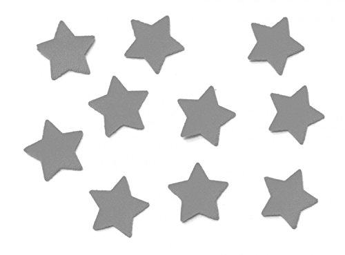 10x Bügelbild Bügelbilder Aufnäher Patch Miniblings 25mm FLOCK Stern grau