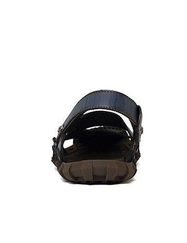 ShangYi Herren Sandaletten Herrenschuhe-Outddor / Lässig-Sandalen-Nappa Leather-Blau / Braun / Gelb / Khaki Khaki