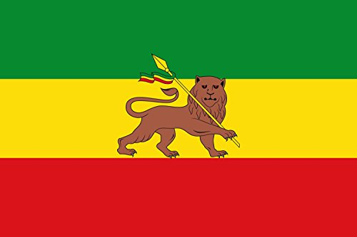 magFlags Large Flag Ethiopian Empire between 1974 and 1975 | landscape flag | 1.35m² | 14.5sqft | 90x150cm | 3x5ft - 100% Made in Germany - long lasting outdoor flag
