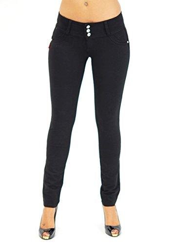 U-Turn Style 1119 Butt lifting, Levanta Cola, Skinny Leg Premium French Terry Fashion Moleton in Black