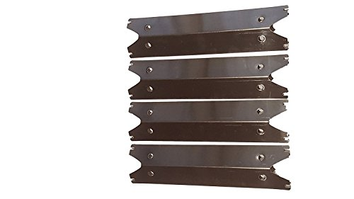 Set of Four Stainless Steel Heat Plates for Brinkmann 810-2410-S, 810-2411-F, 810-2411-S, 810-3885-F, 810-3885-S, 810-4238-0, 810-9490-0