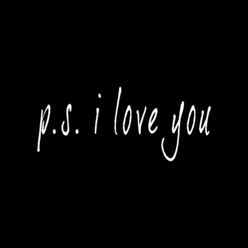 P.S. I LOVE YOU Sticker Car Window Vinyl Decal love cute gift loved one nursery - Die cut vinyl decal for windows, cars, trucks, tool boxes, laptops, MacBook - virtually any hard, smooth surface