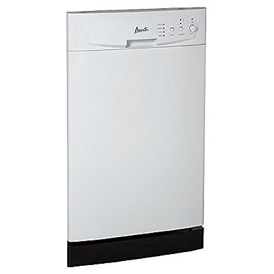 "Avanti DW18D0WE Built In Dishwasher, 18"", White"