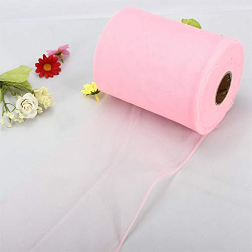 (Professional For Wide Tulle Roll, Soft 6 X100yd Tulle Roll Spool Wedding Craft Bridal Party Decor X300 39 Pink - White Tulle Roll, Tulle For Wedding, Quot Tulle, Rolls Of Tulle, Shiny Tulle)