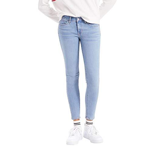 Calça Feminina Jeans Levis 711 Skinny Ankle Performance Cool - Azul Médio - 33 Usa L 44 Br