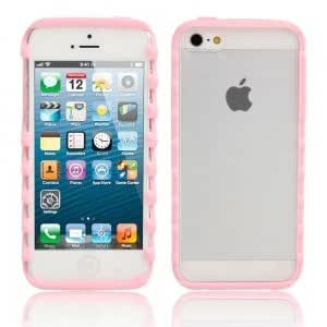 Z Style Bumper Dull Polish Protective Case for iPhone 5/5S Pink