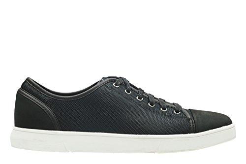 Clarks Casual Hombre Zapatos Lander Cap En Textil Negro
