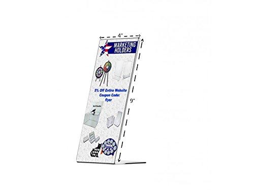 Marketing Holders Slant Back Table Sign Holder Literature Frame Menu Holder Pricing Sign Ad Frame (3, 4'' w x 9'' h)