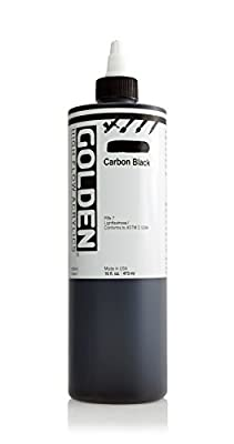Golden High Flow Acrylic Paint, 16 Ounce, Carbon Black