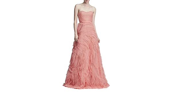 d9b369ff Marchesa Notte Women's Strapless Textured Tulle Gown 14 Coral: Amazon.ca:  Clothing & Accessories