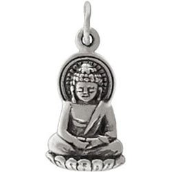 Amazon small sitting young buddha pendant or charm in sterling small sitting young buddha pendant or charm in sterling silver 8440 mozeypictures Image collections