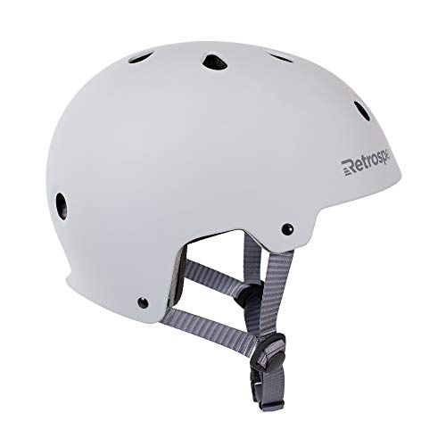 Retrospec CM-2 Bicycle / Skateboard Helmet for Adult CPSC Certified Commuter, Bike, Skate, Matte Slate, Medium: 55-59 cm / 21.75 - 23.25 inches