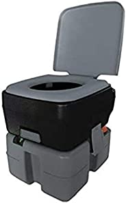 Reliance Products Flush-N-Go 3320 Portable Flushing Toilet 2.5 Gal, black/grey/white (9233-20) Color may vary