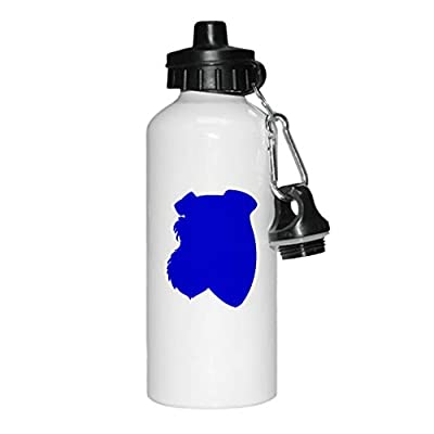 Style In Print Jack Russell Terrier Silhouette Aluminun White Water Bottle