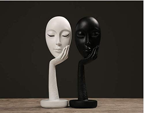 YHviking Donna Creativa e Astratto Faccia Statue Statua di Facce /& Mani,Soggiorno di Scultura,Scultura di pensatore-I 4x11inch 10x29cm