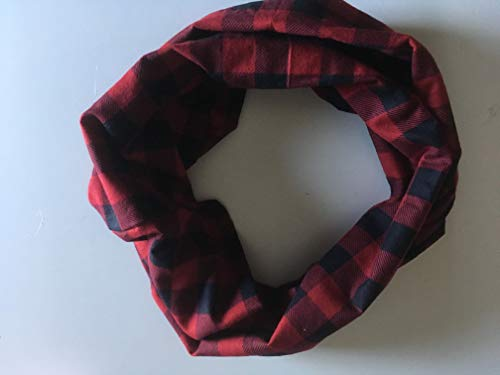 Red, Black Buffalo Double Infinity Scarf by 2LjDesigns