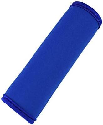 快適なネオプレン荷物ハンドルラップグリップソフト識別子ベビーカーグリップ保護カバー用トラベルバッグ荷物スーツケース - ブルー