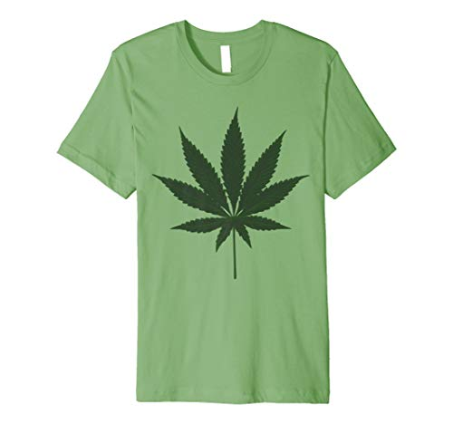 Lazy Halloween Costume Shirt Funny Weed Giant Marijuana Leaf Premium T-Shirt -
