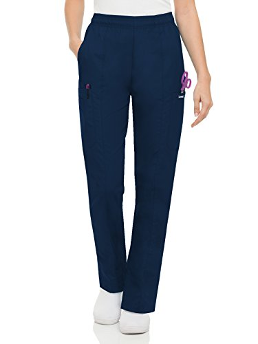 Scrub Landau Medical - Landau Essentials Women's Classic Fit Elastic-Waist Cargo Scrub Pant Navy S