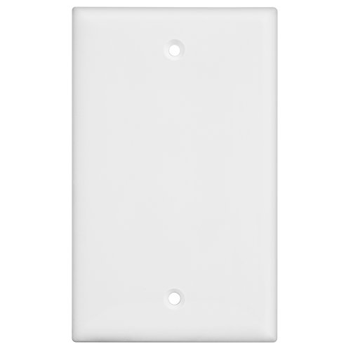 Enerlites 8801-W Blank Wall Plate, 1-4 Gang, Standard Size, Unbreakable Polycarbonate, White (1 Gang)