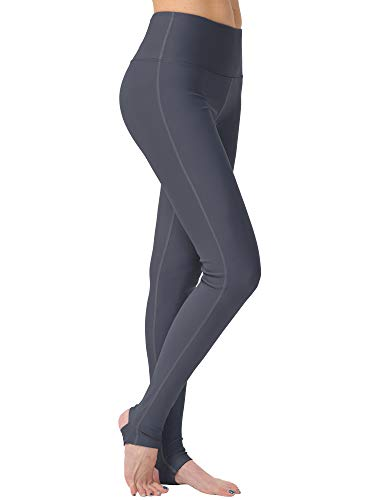 puutiin Womens Stirrup Leggings Tights Gym Yoga Workout Pants High Waist Tummy Control Sports Pants (Ink Grey, Large)