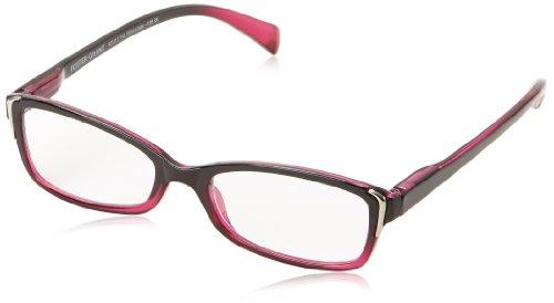 Foster Grant Women's Juniper Square Reading Glasses,Magenta,1.5