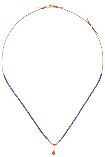 Chan Luu Women's Beaded Short Layering Necklace Blue Mix One ()