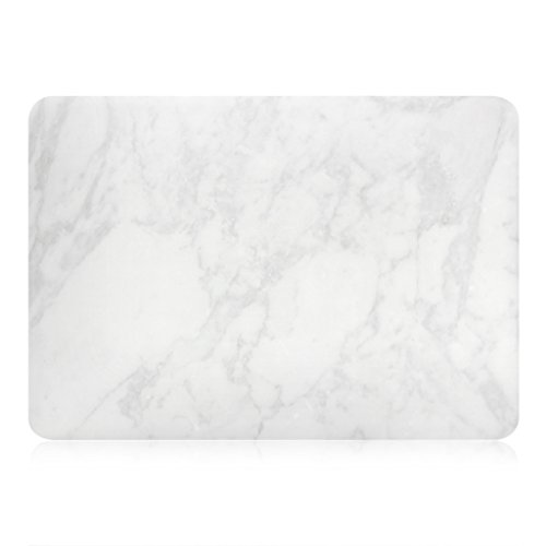 UESWILL Marble Pattern Smooth Hard Shell Case Cover for Older Version 2010-2017 Release MacBook Air 13 inch (Model A1466 / A1369), No Touch ID + Microfibre Cleaning Cloth, (White)