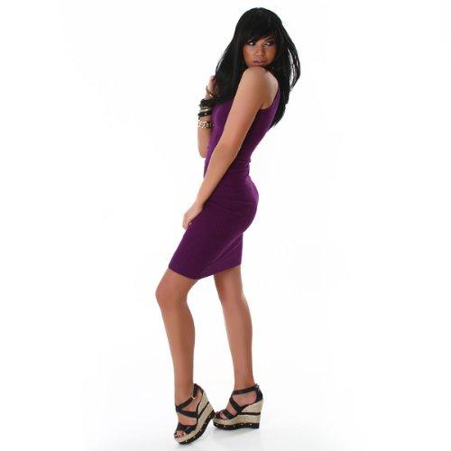 Young-Fashion - Vestido - Sin mangas - para mujer morado