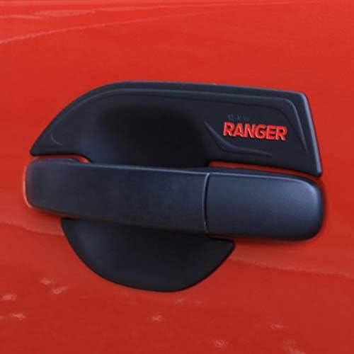 NO LOGO KF-Handles for Ford Ranger Protection Porte Porte poign/ée Ins/érer Cuvette de ramassage Couvercle du Coffre Auto Parts ABS Noir Mat Accessoires Voiture 2012-2018