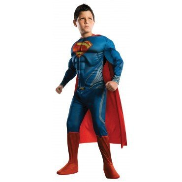 Man of Steel Deluxe Superman Children's Costume, Large -