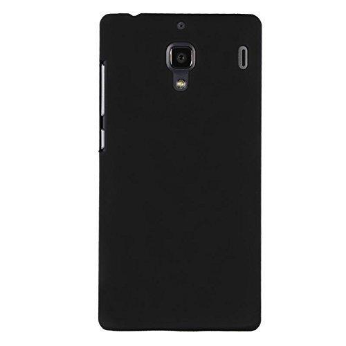 Plus-Rubberised-Matte-Hard-Back-Case-Cover-For-Xiaomi-Redmi-1S-Black