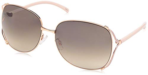 Rocawear Women's R3292 Rgdrs Non-Polarized Iridium Round Sunglasses, Gold Rose, 65 mm