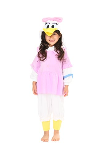 SAZAC Daisy Duck Kids Kigurumi (2-5 (Daisy Duck Costume Adults)