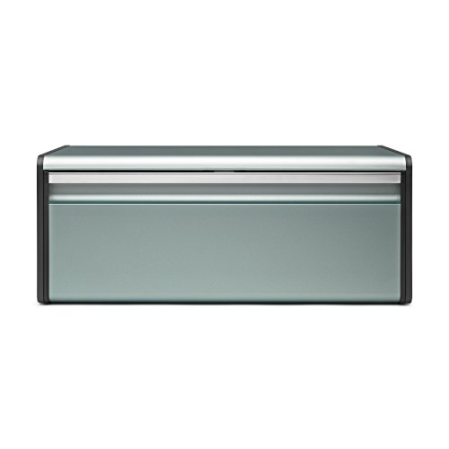- Brabantia Fall Front Bread Bin, Breadbox, Accessories, Metall, Metallic Mint, 484322