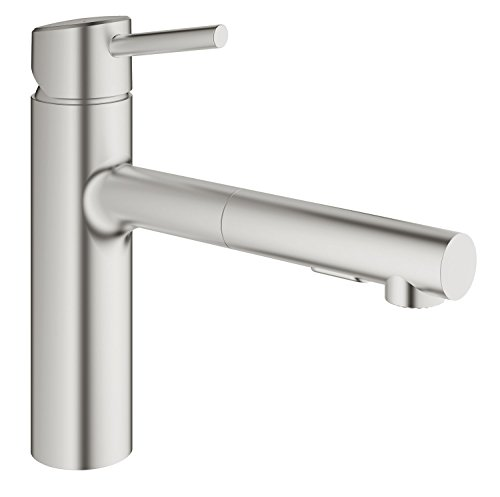Concetto Single Handle Pull Out Kitchen Faucet