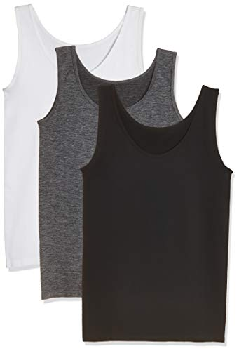 Layla's Celebrity 3 Pack Women's Seamless Basic Layer Tank Top Nylon - Camisole Knitted