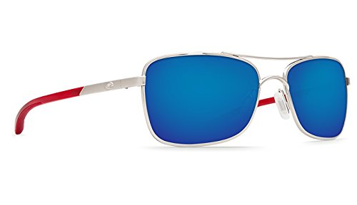 Costa Unisex Costa Palapa 580 Mirror Glass Palladium/Blue Mirror 580 Glass Lens - Costa Palapa