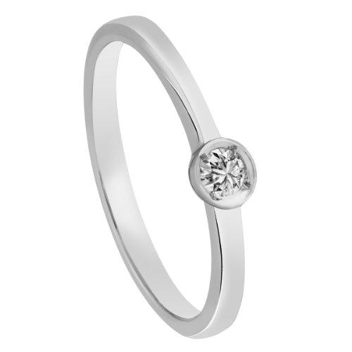 Diamond Line - 110055 - Bague Femme - Or Blanc 14 Cts 585/1000 2.6 Gr - Diamant